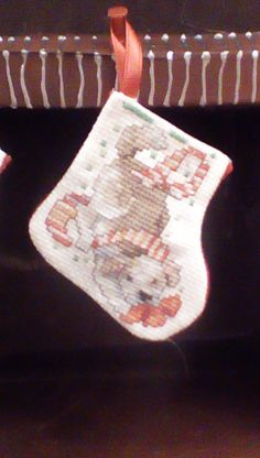 Playful puppy miniature stocking by Tricia556 on Etsy