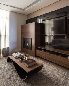 Living Room Tv, Small Living Rooms, Living Room Designs, Tv Wanddekor, Bedroom Tv Wall, Modern Tv Wall Units, Platform Bedroom, Muebles Living, Tv Wall Decor