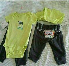 Unisex baby 2pc dive captain playwear size 3 months nwt