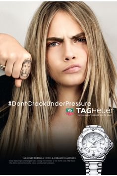 THE BEST FASHION CAMPAIGNS FROM SPRING 2015. CARA DELEVINGNE FOR TAG HEUER / Courtesy Tag Heuer  - ELLE.com