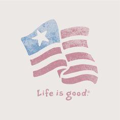 Life is good. USA.