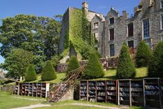 Hay Castle Bookshop in Wales
