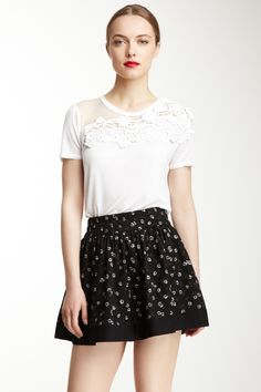 RED Valentino Short Sleeve EmbroideRED Top