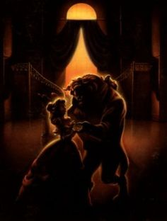 Beauty And The Beast Key art...would be perfect for a girl's room.