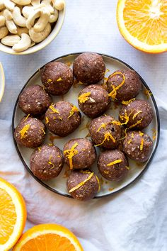 Chocolate Orange Bliss Ball Truffles ( with protein powder)