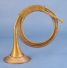 Coiled trumpet by Georg Friedrich Steinmez, Imperial City of Nürnberg, after And in those days shall men seek death, and shall not find it; and shall desire to die, and death shall flee from them.