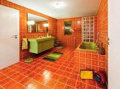 Jaren 70 badkamer.