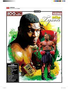 Mike Tyson 100 Leyendas del Deporte / 100 Sports Legends by Jesús R. Sánchez, via Behance