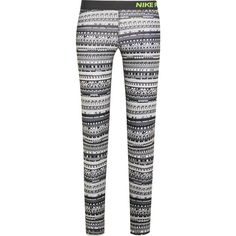Nike Pro Warm 8 printed stretch-jersey leggings (2,305 DOP) ❤ liked on Polyvore featuring activewear, activewear pants, pants, leggings, sports, athletic, nike activewear pants, nike sportswear, nike activewear and athletic sportswear