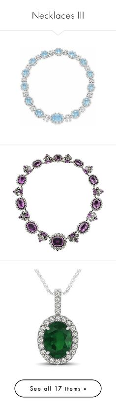 """""""Necklaces III"""" by kingdomofborduria ❤ liked on Polyvore featuring jewelry, necklaces, colar, aquamarine jewellery, aquamarine necklace, aquamarine jewelry, 06 necklace, pink topaz necklace, pink topaz jewelry and diamond halo necklace"""