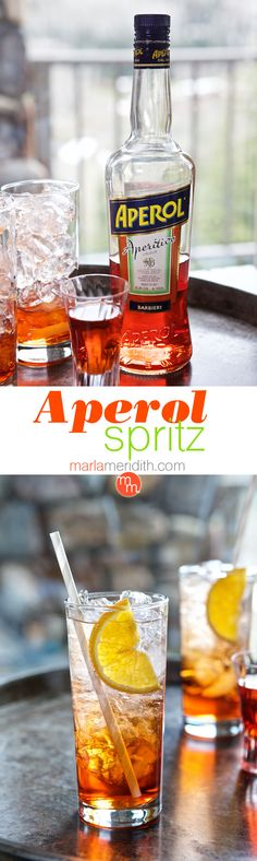 This fruity Aperol Spritz Cocktail recipe is inspired by Italian cafes, our favorite summer time cocktail. Serve at your next party! Italian Drinks, Italian Cafe, Italian Recipes, Cocktail Drinks, Cocktail Recipes, Cocktails, Aperol Spritz Recipe, Cool Bars, Prosecco