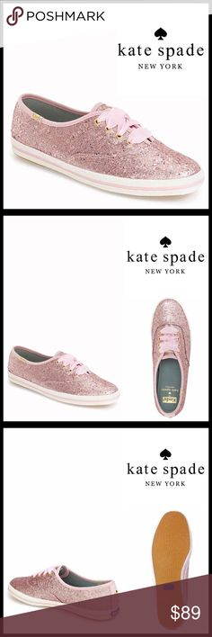 ❌SOLD❌⭐⭐ Keds For KATE SPADE Stylish Sneakers  NEW WITH BOX   Keds For KATE SPADE Stylish Sneakers Glitter Shoes    * Round toe & lace up vamp  * Flat sneaker sole w/a lightly padded footbed  * Contrast trim & topstitching details  * Glitter construction  & satin laces   * Non-marking textured ballet flat sole & logo detail  * True to size   Material: Textile upper & rubber sole Color- Iced Pink Glitter, white Item:  No Trades ✅ Offers Considered*✅ *Please use the blue 'offer' button to…