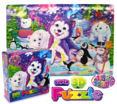 Extreme 3D Lisa Frank lenticular fun! Every fan needs this 100 piece 3D Puzzle featuring Tikanni®. Available ONLY at Walmart!