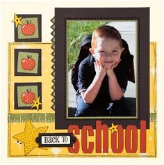Back to School scrapbook page idea from #CTMH. | http://my-scrapbook-photos.blogspot.com