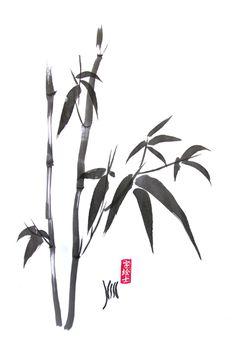 Bamboo Sumi-e Practice