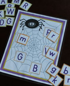 Spider ABC matching activity
