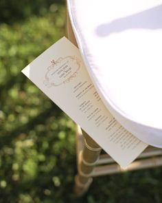 Slim down your programs so they can be tucked under guests' seat cushions prior to the ceremony.