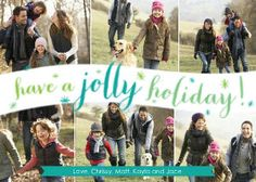 Mixbook Whimsy Jolly Holiday Holiday Photo Cards
