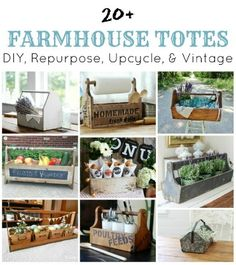 20+Farmhouse Totes for Every Room in the House |www.knickoftime.net