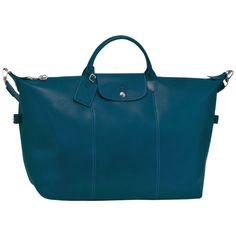 51004f07d6 Sac de voyage - Veau Foulonné - Bagages - Longchamp - Bleu canard -  Longchamp France