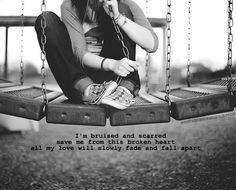 bruised and scarred. mayday parade <3