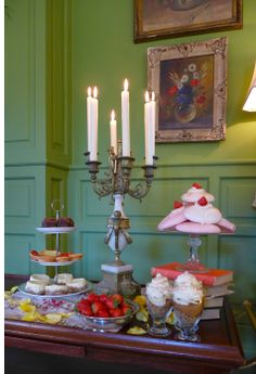 Delightful Desserts Delicious Desserts, Restaurant, Candles, Diner Restaurant, Candy, Restaurants, Candle Sticks, Dining, Candle