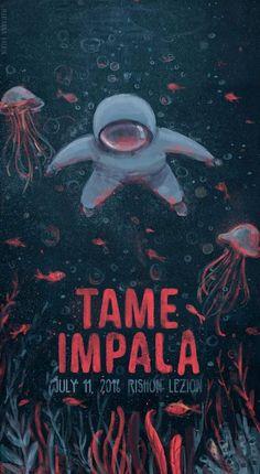 Tame Impala gig poster by Marianna Raskin