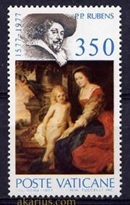 Vatican 1977 4th centenary of the birth of Peter Paul Rubens, Single Stamp