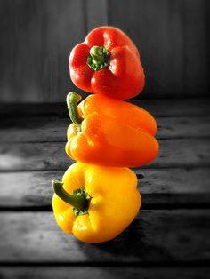 Glorious Stacked Rainbow Peppers -=- Photography by Paul Williams, Wow<3