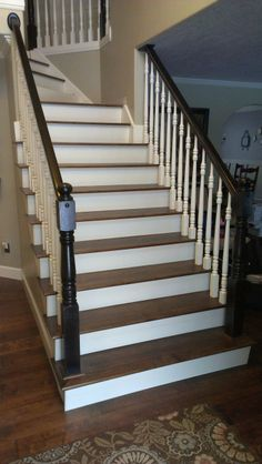 black staircase ideas | Hardwood Staircase  The Right Solution For Your Home : Black White ...