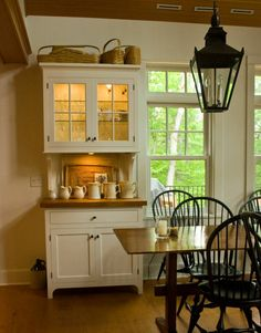 Country style hutch with rustic top