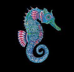 psicodelic sea horse