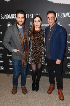 """Zoe Lister Jones Photos Photos - Adam Pally, director Zoe Lister-Jones and Fred Armisen attend the """"Band Aid"""" Premiere at Eccles Center Theatre on January 24, 2017 in Park City, Utah. - 'Band Aid' Premiere - 2017 Sundance Film Festival"""