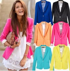 Super chic neon blazer for spring and only 35 bucks! #luckysevenshop #fashion