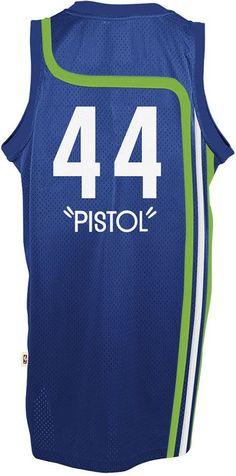 b0c40d8cf16b I want this! adidas Mens Pete Maravich Atlanta Hawks Swingman Jersey - Blue  XXL ...