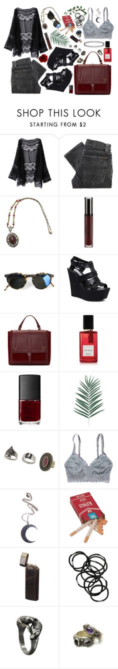 """""""The boys, the girls, they all like Carmen ..."""" by freakoholic ❤ liked on Polyvore featuring Nudie Jeans Co., Kyme, Steve Madden, Jérôme Dreyfuss, Diana Vreeland Parfums, NARS Cosmetics, Topshop, American Eagle Outfitters, Killstar and Monki"""