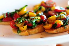 Bruschetta... I could eat this all day.  Yum, Yum, & Yum!