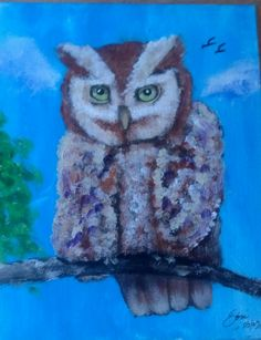 Owl of a Different Feather 8X10 Acrylic SOLD 201451