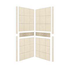 American Bath Factory Flagstaff Shower Wall Surround Side Panel (Commo