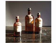 Still Life Photography Vintage Apothecary Bottle by urgestudio