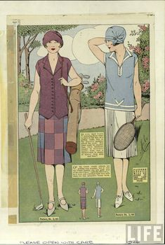 1926 fashion. Love the blue and white; classic '20's.