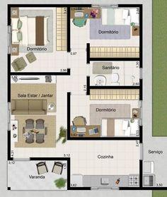 11 modelos de plantas de casas pequenas para construir - Modelos de casas de campo pequenas ...