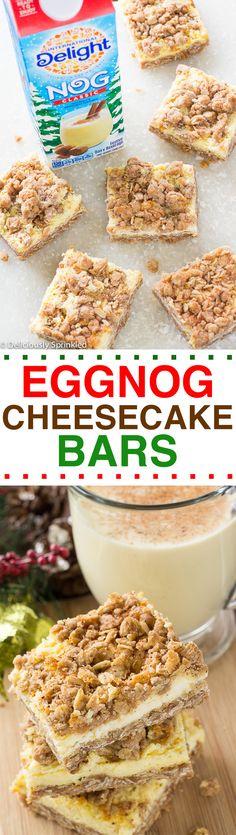 Easy Eggnog Cheesecake Bars