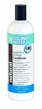 NATURAL WORLD COCONUT WATER HYDRATION & SHINE CONDITIONER 500ML Argan Oil, Coconut Water, Natural World, Health And Beauty, Beauty Products, Conditioner, Fragrance, Personal Care, Bottle