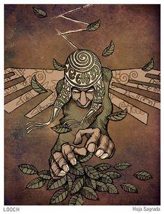 Peru Tattoo, Aztec Culture, Mesoamerican, Cover Tattoo, Visionary Art, Native Art, Ink Painting, Woodstock, Trippy