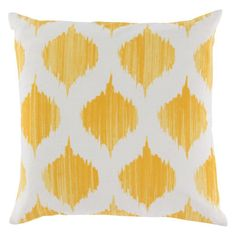 Surya Exquisite in Ikat Decorative Pillow Sunflower / Ivory Poly Fill - SY020-2222P