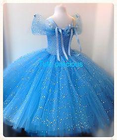 Disney Inspired Cinderella Tutu Dress - Dressing up / Costume Elsa Fancy Dress, Cinderella Tutu Dress, Frozen Tutu Dress, Princess Tutu Dresses, Elsa Dress, Fancy Dress Outfits, Princess Costumes, Baby Pageant Dresses, Dress Clothes