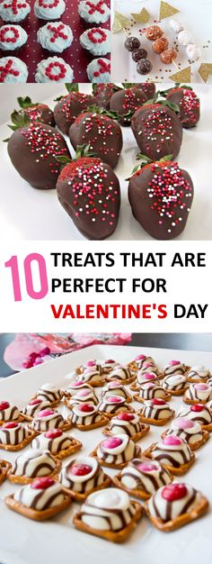 Totally cute ideas for Valentines day treats.