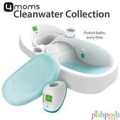 Dirty water is OUT. Clean water is IN! With 4Moms Cleanwater Collection, giving your baby the perfect bath is EASY. Color coded thermometers give you a reading at a glance, and faucet cover protects babies from faucet bumps. Shop our collection of 4Moms bath essentials - link in profile!  http://www.pishposhbaby.com/4mom-cleanwater-collection.html