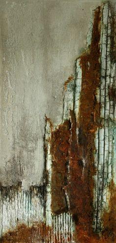 Annette Kleiner, Mischtechnik auf Leinwand 30x60x4 cm Ostsee-Galerie Timmendorfer Strand  -verkauft-
